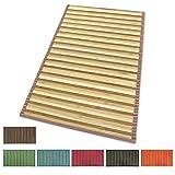 Alfombra de bambú antideslizante, ideal para la cocina, el baño, el dormitorio... Color: degradado, varios tamaños