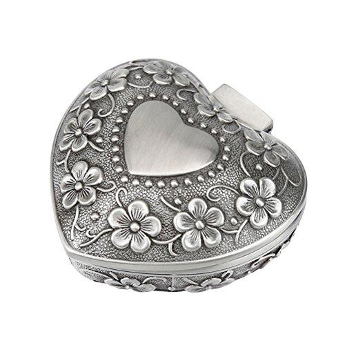 TOPBATHY Holz Ring Box Vintage Rustikale Mr Mrs Spitze Hochzeit Ring Box Verlobungsring Schmuckschatulle für Verlobung Heiratsantrag (Schmuckdose aus Metall)