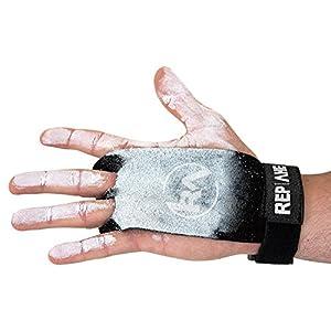 REP AHEAD®️ Grips – Extra starker Handschutz – Handschuhe mit bequemen Doppelpolstern für Crossfit, Fitness, Gym, Gewichtheben, Bodybuilding, Kraftsport, Turnen, Calisthenics