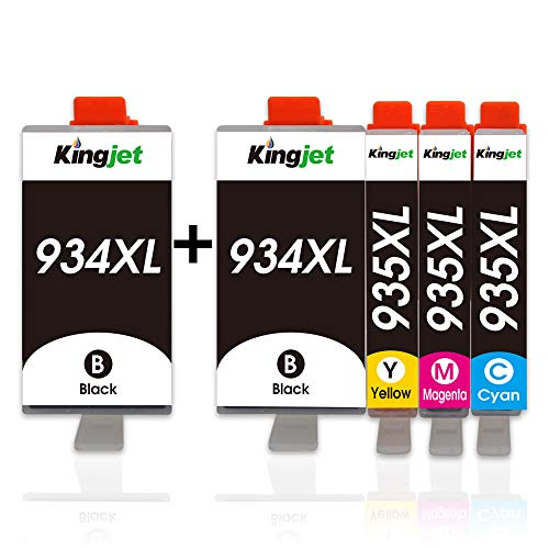 Kingjet 934 935 XL Druckerpatronen Multipack Ersatz für HP 934XL 935XL Kompatibel mit HP Officejet Pro 6830 6820 6230 6812 6815 6835 6220