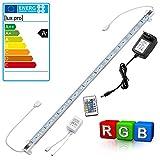 Intec [lux.pro] 50cm Alu RGB LED Lichtleiste +FB +Netzteil Farbwechsel Unterbauleuchte Leiste SMD TV Küche Beleuchtung