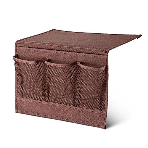 Pawaca Nachttisch Lagerung Organizer, Tisch Schrank Aufbewahrung Organizer, Caddy Fernbedienung Pocket Organizer Coffee