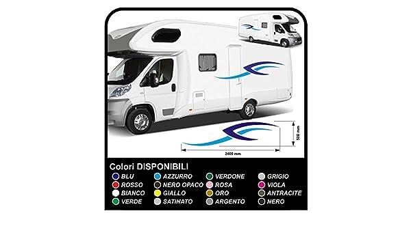 adesivi CAMPER grafica in vinile adesivi decalcomanie Set Camper Van RV Caravan Motorhome roulotte x 16 adesivi kit completo grafica 03 COLORI COME DA FOTO