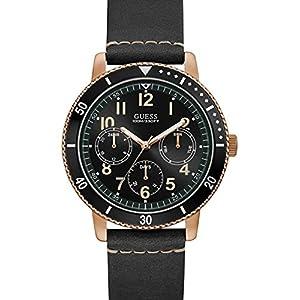 Guess Reloj Analógico para Hombre de Cuarzo con Correa en Cuero W1169G2