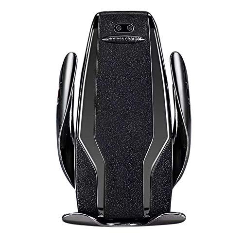ENticerowts Handyhalter Intelligente Induktion,S6 10W Auto Clamp Qi Wireless Autoladegerät Air Entlüftungshalter für iPhone Samsung Schwarz Schwarz Navigation