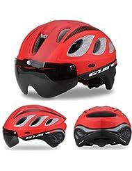ZLK Casco De Bicicletacasco De Bicicleta De Seguridad Multifuncional Mountain Gullles & Brim Cycling Helmet Road Mountain Helmet
