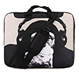 TaylorHe 15 / 15,6 Zoll Notebooktasche, Schultertasche für Notebook mit Muster , Laptoptasche mit Griff und Seitentaschen Laptop Bag Schimpanse, lustig