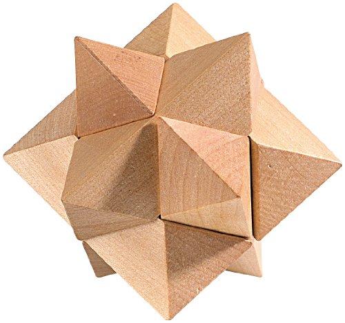 Playtastic Geschicklichkeitsspiel: Geduldspiel Stern aus Holz (Holzspiele)