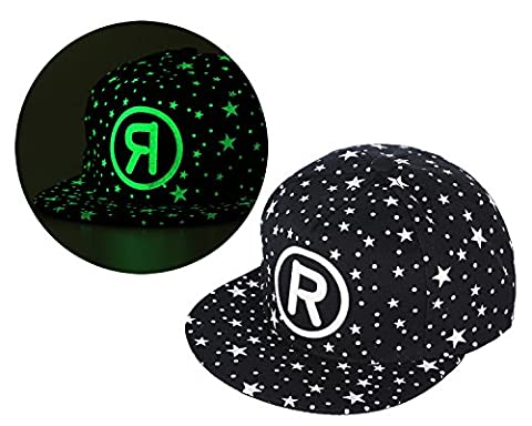 Kobwa(TM) Unisex Canvas Hat Fluorescence Letter R Adjustable Plain Baseball