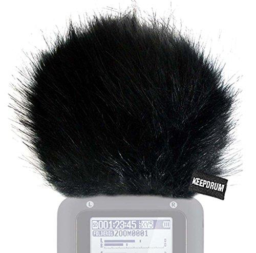 KEEPDRUM Fell-Windschutz WS-BK für Zoom H5 Handy Rekorder Digital Recorder