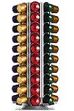 Döring Kapselspender, Kapselhalter CoffeeTower 80-fach silber für Nespresso