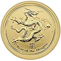 "1/4 oz Australien 2012 Lunar II ""Year of the Dragon"" (Drache) 999,9 Goldmünze"