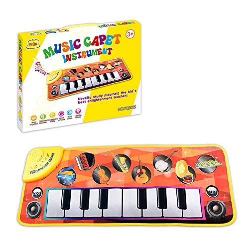 GJQASW Musikteppich, Spielzeugausbildung Decke der Klavierteppichkinder elektronisches Spielzeugbabyspielauflage kriechende Matte Multi-instrumentales Spielen