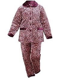 HXQ Conjunto de Pijama de Franela para Mujer, mangas largas Pjs , Figure , l