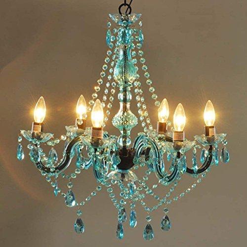Araña de luces de cristal araña Velas Candelabro Fine-Tune seis jefes real del prisma (Color : C)