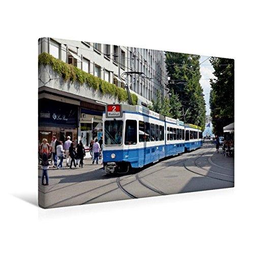 Premium Textil-Leinwand 45 cm x 30 cm quer, Zürich (Schweiz) | Wandbild, Bild auf Keilrahmen,...