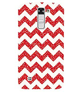 Chiraiyaa Designer Printed Premium Back Cover Case for LG K10 LTE (red christmas pattern love) (Multicolor)