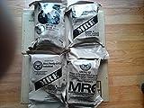 4individual comidas–MRE Star listo para comer comidas completa w/sin llama calentadores–variedad de comida–gran para Bugout Bug Out supervivencia Kits de bolsas de emergencia para desastres 2012Zombie Apocalypse