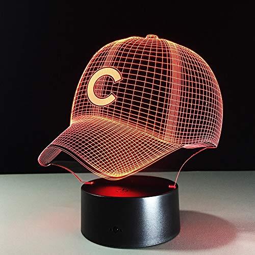3D Hip Hop Equipo de béisbol Cap LED Illusion 3D Luz de...