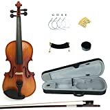 Kinglos PJB1002 3/4 Solid Wood Student Acoustic Violin Fiddle Starter Kit