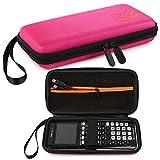 Faylapa Almacenamiento de estuche para calculadora gráfica Texas Instruments TI-83 Plus TI-84 Plus Estuche de EVA Bolsa de viaje Estuche de protección (Pink)