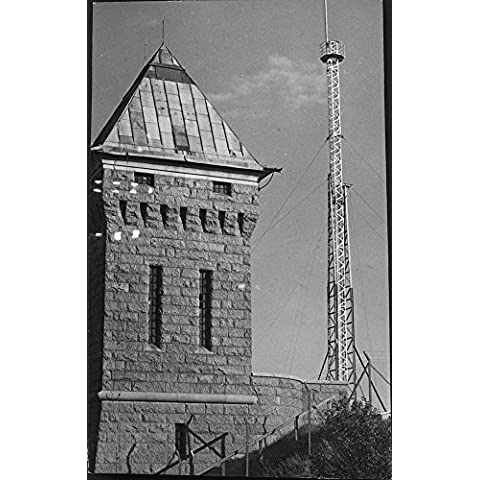 Vintage photo of The new police radio station located at the water tower on Hägerstensåsen