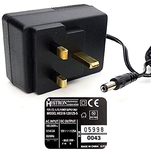 Power supply adaptor 12V 1.25A (max.). Charger. Switching Adapter. Regulated.