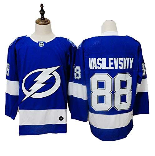 Yajun Andrei Vasilevskiy#88 Tampa Bay Lightning Eishockey Trikots Jersey NHL Herren Sweatshirts Atmungsaktiv T-Shirt Bekleidung,L -