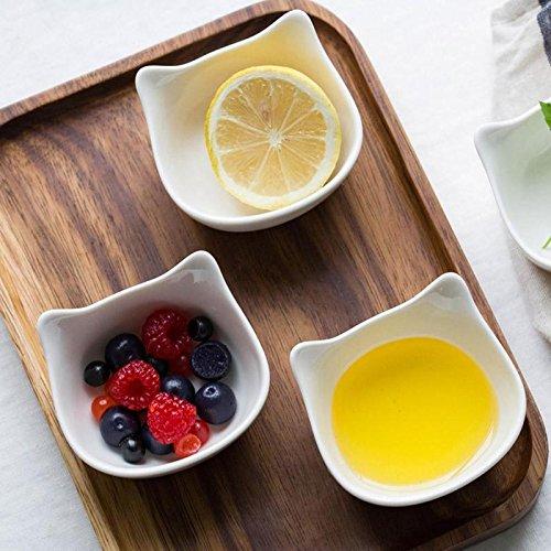 Creative bowl lovely Cat Shape White Cartoon Fruit Snack Sauce Kids Feed Food Bowl Dinnerware 15