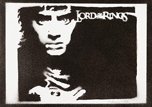 utlin Herr der Ringe (The Lord of The Rings) Handmade Street Art - Artwork - Poster (Bilbo Beutlin Kostüm Für Herren)
