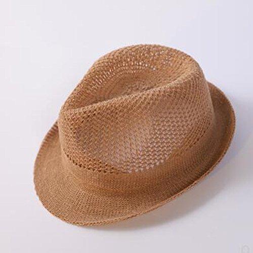 Hut Kinder männlich Gezeiten Sommer Mesh atmungsaktive Kind Strohhut Strand Hut Junge Hut koreanische Version der Sommersonne Liang ()