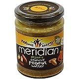 MERIDIAN - Beurre de cacahouètes avec des cacahouètes croquantes 100% sans huile de palmier - Sans Gluten - Vegano...