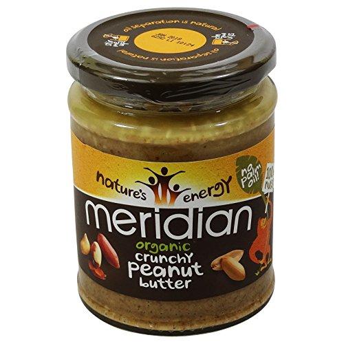 MERIDIAN - Burro di arachidi con arachidi croccanti 100% senza olio di palma - Senza (Burro Biologico Nocciola)