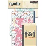 """Family Stories histoires de famille avec onglet dossiers papier cartonné fichier pkg-4/4 x 6"""" à 6 « x 9 » plié"""
