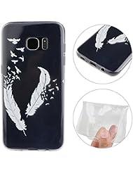 "Coque Samsung Galaxy S7 Edge, Rosa Schleife® Silicone Transparente Housse de protection TPU Gel Cas Clear Cover pour Samsung Galaxy S7 Edge (5.5"")"