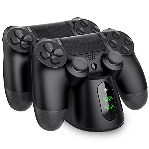 Extra Wireless Controller (BEBONCOOL PS4 Controller Ladestation, Dualshock 4 Ladestation Ladegerät Ständer mit LED Anzeige & Micro USB Kabel Zubehörset für Sony Playstation 4 / PS4 Slim / PS4 Pro Wireless Controller)