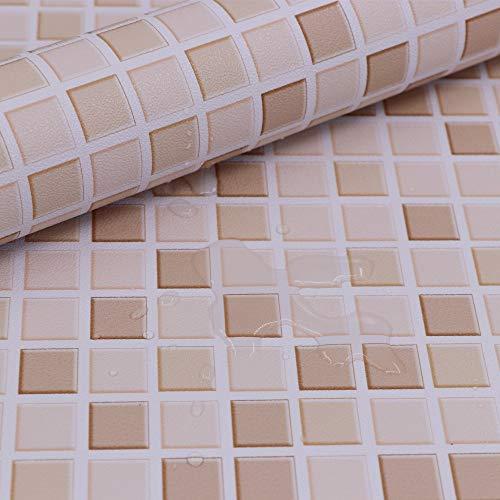 Hode mosaico adesivi decorativi per piastrelle cucina vinile impermeabile pvc autoadesivo decorazione,mosaico,40x300cm,carta da parati per bagno (colore chiaro) adesivi per piastrelle