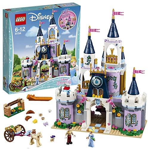 LEGO Disney Princess 41154 - Cinderellas Traumschloss, Beliebtes Kinderspielzeug - Glas Kamin Edelsteine