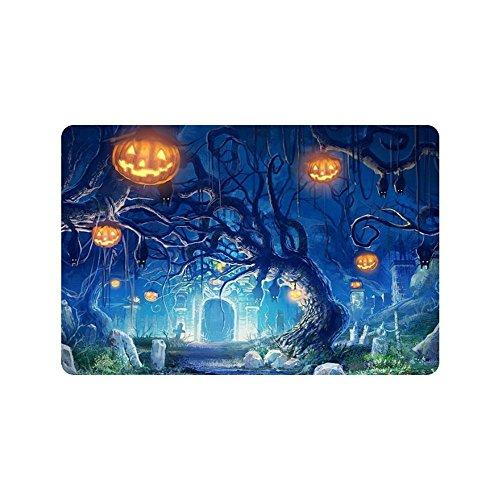 nuohaoshangmao Doormat Decorative Doormat Pumpkin Halloween Festival Custom Home and Bath Doormat 12.5 x 18 Inch