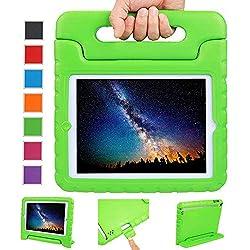 Coque iPad 2, Coque iPad 3, Coque iPad 4, NEWSTYLE Etui Housse EVA Enfants Antichoc Protecteur Support Convertible avec Poignée de transport pour Etui Apple iPad 2 iPad 3 iPad 4 (Vert)
