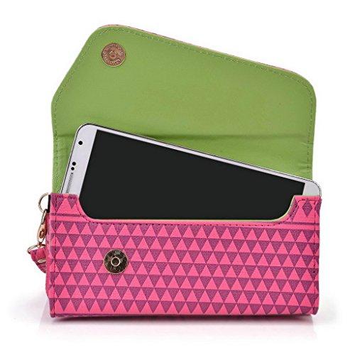 Kroo Pochette/étui pour téléphone Urban Style Tribal pour Protection d'écran Béquille intégrée G5 Multicolore - White and Orange Multicolore - Rose
