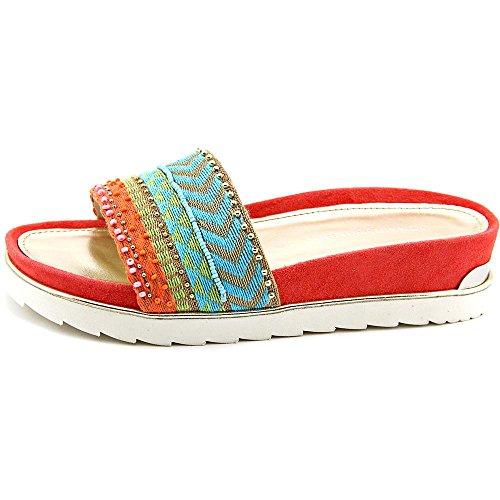 ... Donald J Pliner Cava 2 Stoff Sandale Red/Multi ...