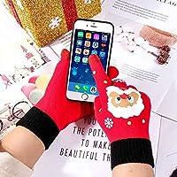 WCDF gloves Christmas Gloves Mittens Warm Female Gloves gloves ( Color : 1 , Gloves Size : One Size )
