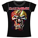 Iron Maiden Damen, T-Shirt, Final Frontier Big Head, Schwarz (Black), 36