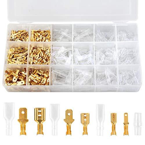 300 Kit Crimpadora Terminales Macho/Hembra Preciva terminales eléctricos 2.8mm/4.8mm/6.3mm Kit Hembra y...