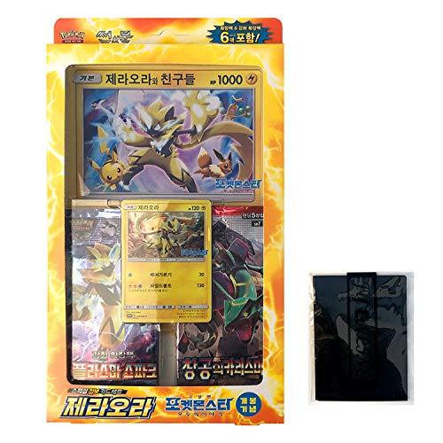 Pokémon Carte Sun&Moon Special Set Scheda Jumbo Coreano 38 Cards Coreano Ver TCG + 3pcs Premium Card Sleeve Zeraora Jumbo