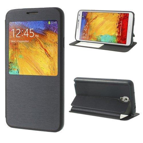 Flip Cellulare cassa del telefono del del basamto della copertura della cassa Business Case blu navy Samsung Galaxy Note 3 Neo 3G / SM-N750, Galaxy Note 3 Neo LTE / GT-N7505