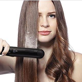 YOYO Hair Straightening,Infrared Steam Ceramic Tourmaline Flat Iron LED 230°C Hair Straightening Black