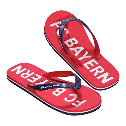 FC Bayern München Bade-Sandalen, Größe Schuhe / Flip Flop / Sandalen:43/44 (Team-flip-flop-sandalen)