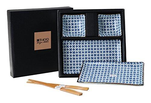 tokyo-design-studio-sushi-juego-completo6piezaspara-2personassushi-vajilla-2sushi-platos-y-2dip-cuen